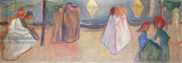Summer night, 1906-1907, by Edvard Munch (1863-1944), tempera on canvas. Norway, 20th century.