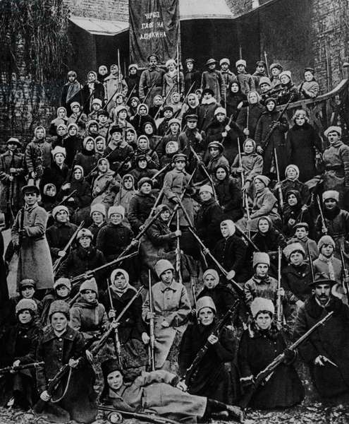 Female unit of the Red Army used against General Anton Ivanovich Denikin's White guards, 1919, Russia, Russian Civil War, 20th century