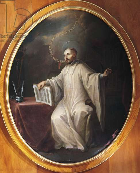 St Bernard of Clairvaux, attributed to Miguel Cabrera (1695-1768)