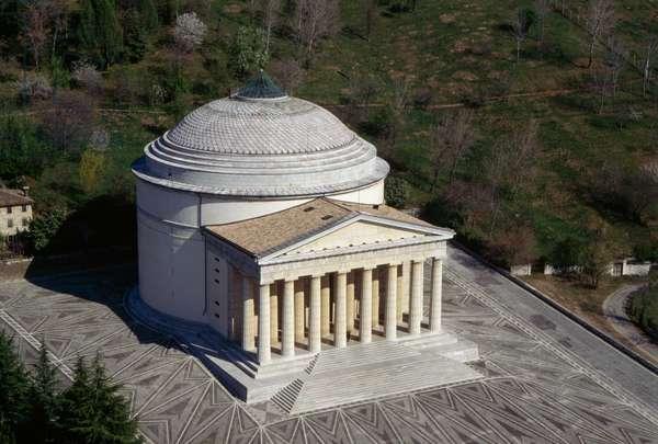 Canova Temple (Tempio Canoviano) or Archpriest Church of the Holy Trinity, 1830, by Antonio Canova (1757-1822), Possagno, Veneto, Italy, 19th century (photo)