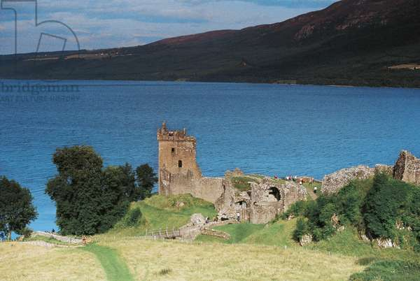 Urquhart Castle on banks of Loch Ness, Scotland, United Kingdom