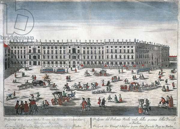 Germany, Berlin, Stadtschloss (Royal Palace), pulled down in 1950, Engraving