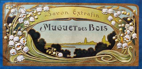 Label for lily of the valley soap bars, 1915-1920, France, 20th century