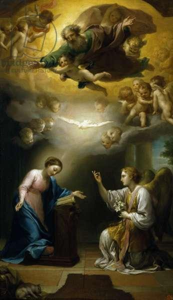 Annunciation, by Anton Raphael Mengs, Circa 1767, oil on canvas, 1728-1779, 69x41 cm