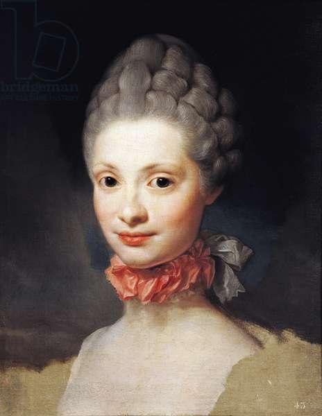 Portrait of Maria Luisa di Parma, Princess of Asturias, by Anton Raphael Mengs, 1765, oil on canvas, 1728-1779, 475 cm x38
