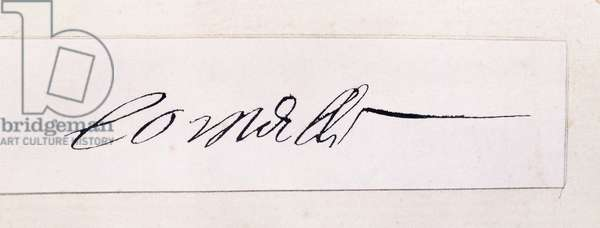 Handwritten signature of Pierre Corneille (1606-1684), 17th century