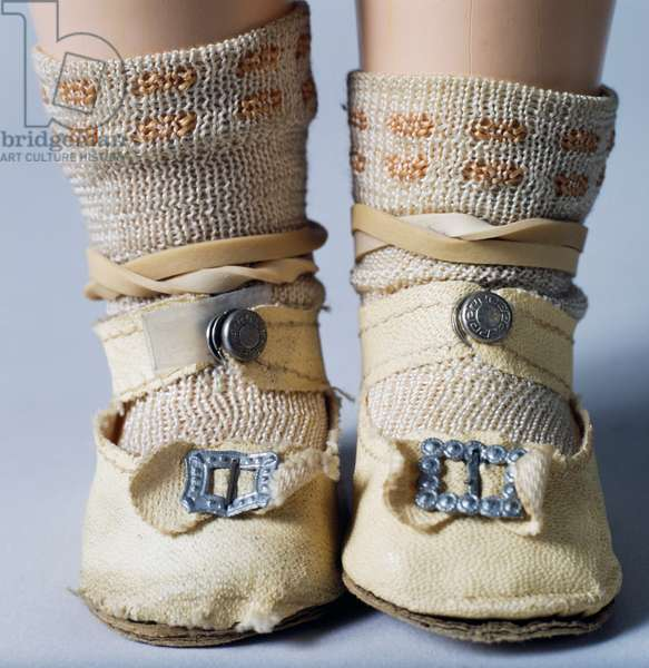 Shoes with buckles and socks, detail of Shirley Temple doll No 18 made by Ideal Novelty and Toy, 1934, USA, 20th century, Detail