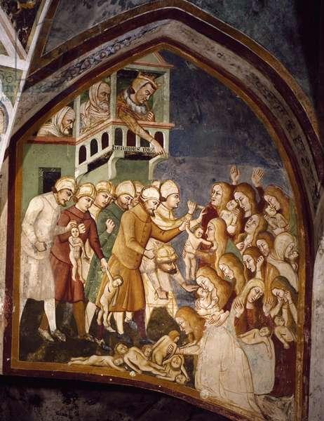 The Massacre of the Innocents, from Master Trecentesco School, fresco, 14th century