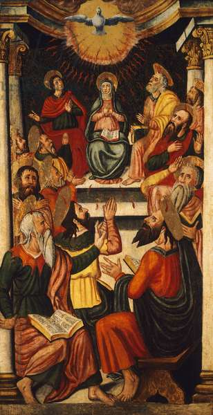 Pentecost, by unknown 16th century Sardinian artist