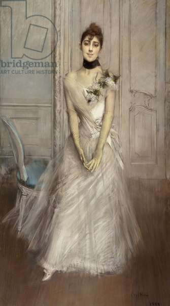 Portrait of Emiliana Concha de Ossa, 1888 (pastel on canvas)