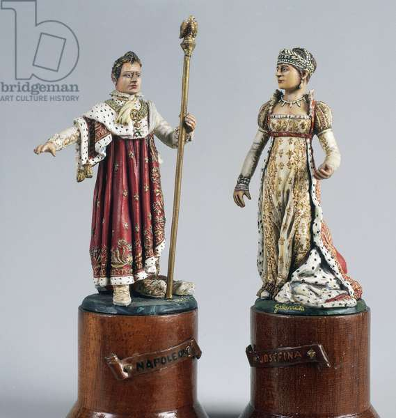 Napoleon Bonaparte (1769-1821) and Josephine de Beauharnais (1763-1814), 1810, 5.4 cm, toy soldier from Napoleonic era, France, 19th century