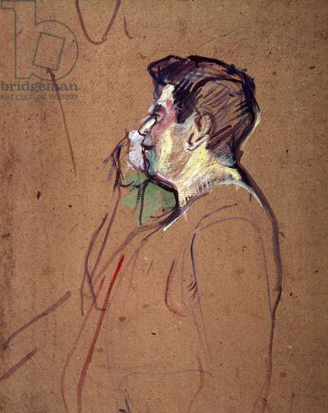 Cadieux, Cafe-concert actor, by Henri de Toulouse-Lautrec (1864-1901)