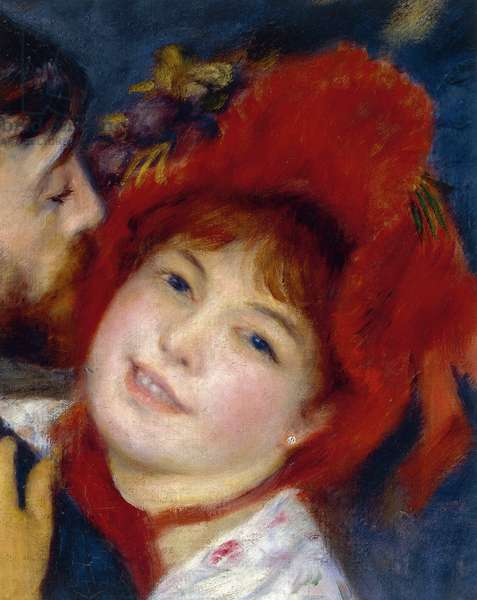 Dance in the Country, by Pierre-Auguste Renoir, 1883, detail, oil on canvas, 1841-1919, 180x90 cm