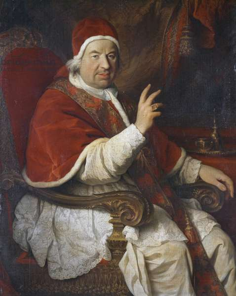 Portrait of Pope Benedict XIV (1675-1758), painting by Pierre Subleyras (1699-1749)