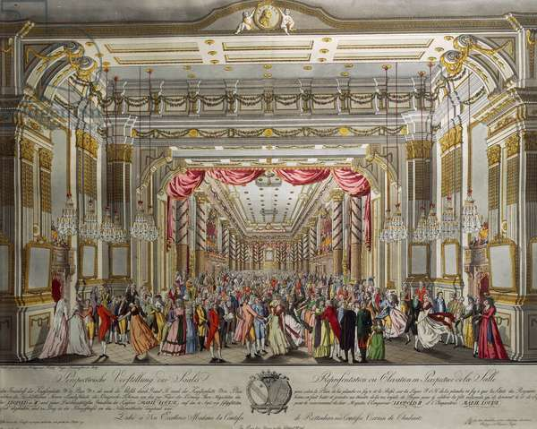 Dance in Redouten Hall in Prague to celebrate the coronation of Leopold II and Maria Luisa, 1790
