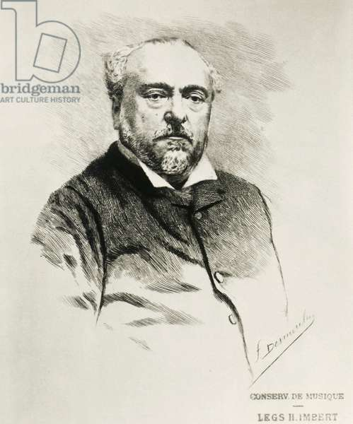 Portrait of Emmanuel Chabrier, French composer