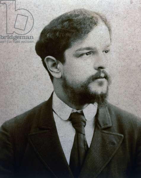 Portrait of Claude Debussy (Saint-Germain-en-Laye, 1862-Paris, 1918), French composer and pianist, circa 1893