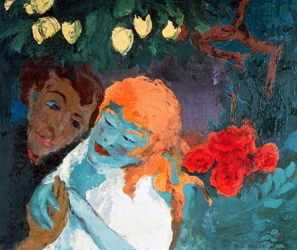 The lemon grove, 1933, by Emil Nolde (1867-1956), oil on canvas, 73x88 cm. Germany, 20th century.
