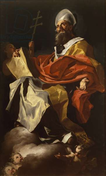 St Athanasius by, Francesco Solimena (1657-1747), from Santa Maria Assunta Cathedral, Naples