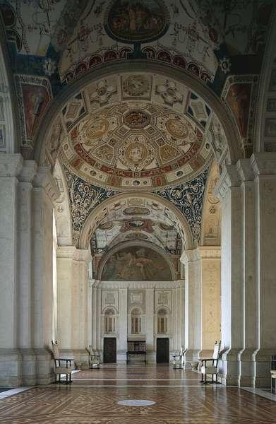 View of Loggia, 1517, designed by Raffaello Sanzio (1483-1520), Villa Madama, Rome, Lazio, Italy