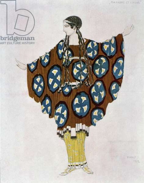 Costume design for Ravel, from Daphnis and Chloe, c.1912 (colour litho)