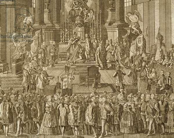 Coronation of Emperor Leopold II of Austria, Austria, 18th century