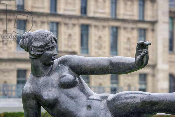The Air, 1938, statue by Aristide Maillol (1861-1944), Tuileries garden, Paris, France (photo)