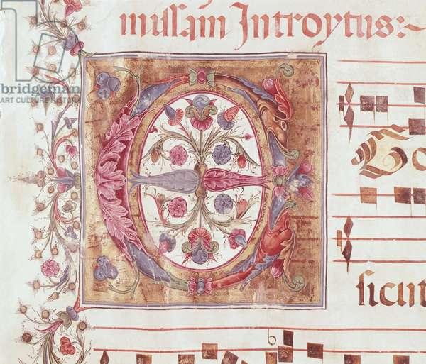 Illuminated page, by Reginaldo Pyramus, medieval choral.