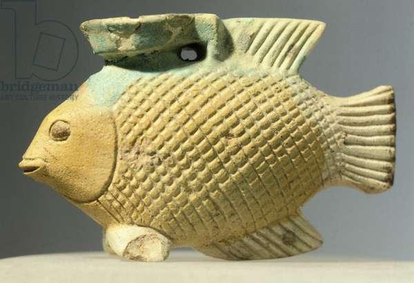 Vase in shape of fish from Olbia area in Crimea, Autonomous Republic of Crimea, Greek civilization, 6th Century BC