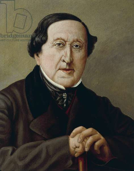 Italy, Portrait of Italian composer, Gioacchino Rossini