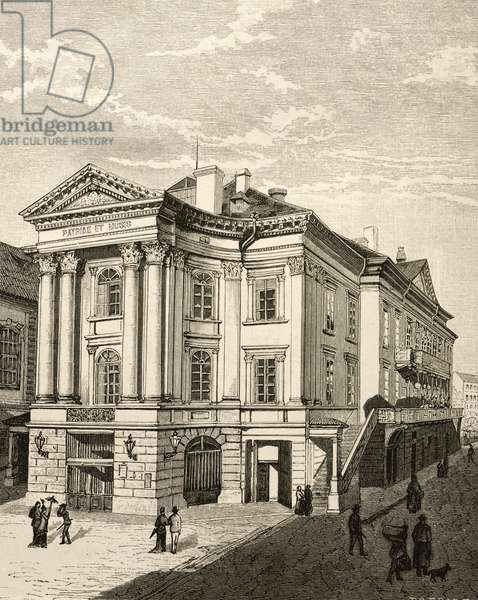 The Prague Summer Theatre, Czech Republic, 19th Century Engraving