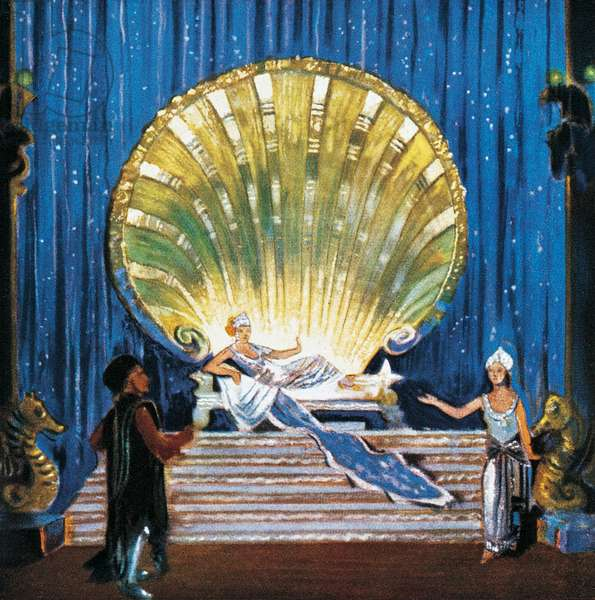 Scenography for The Egyptian Helen (Die Aegyptische Helena, 1927) by Richard Strauss, Vienna, 1928, 20th century