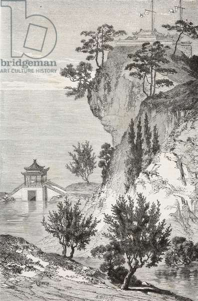 Palace of Meditation, Summer Palace, drawing by Emile Therond (1821-?) from a Chinese painting, from Visit to the Old Summer Palace by Guillaume Pauthier (1801-1873), Beijing, China