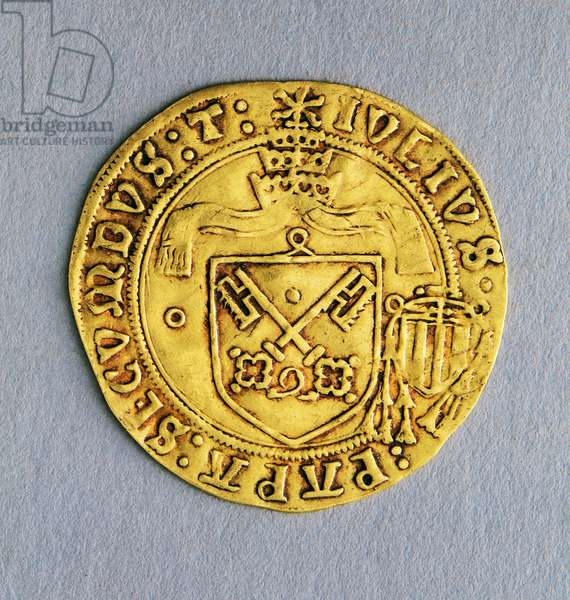 Scudo (coin) of Pope Julius II (1503-1513), 1503, Avignon mint, Obverse, Coat of arms, Papal States, 16th century