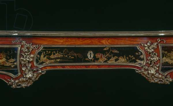 Louis XV style writing table (bureau plat), stamped by Macret, France, 18th century, detail
