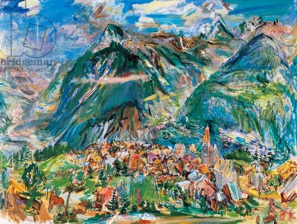 Montana landscape, 1947, by Oscar Kokoschka (1886-1980), oil on canvas. Austria, 20th century.