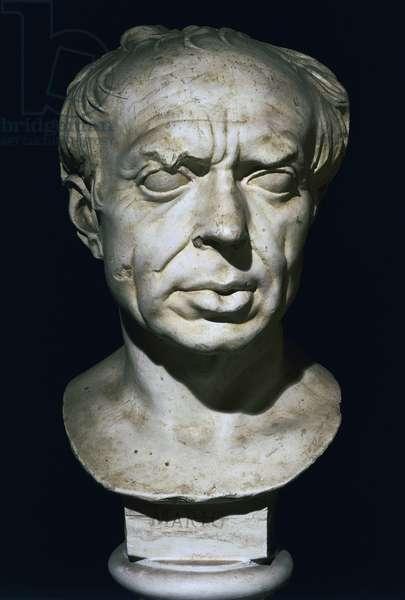 Marble bust of Gaius Marius (157-86 BC), Roman general and politician, Roman Civilisation, 1st century BC