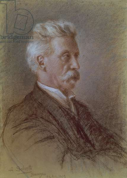 Portrait of Giuseppe Cesare Abba (1838-1910) by A. Salvetti, Italian writer and patriot