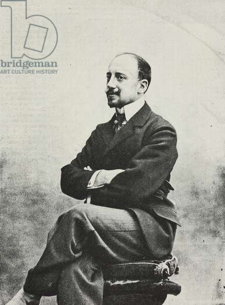 Portrait of Gabriele D'Annunzio (1863-1938) Italian poet, writer and playwright, photograph by Guigoni and Bossi, from L'Illustrazione Italiana, Year XXV, No 4, January 23, 1898