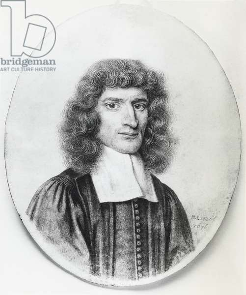 Portrait of Isaac Barrow (1630-1677), English Christian theologian and mathematician, engraving