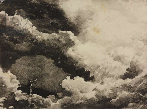 Cloudy sky, sketch for il Prologo of the opera Mefistofele by Arrigo Boito, Season 1881, from 500 stage design sketches in five volumes, 1919, by Carlo Ferrario (1833-1907).
