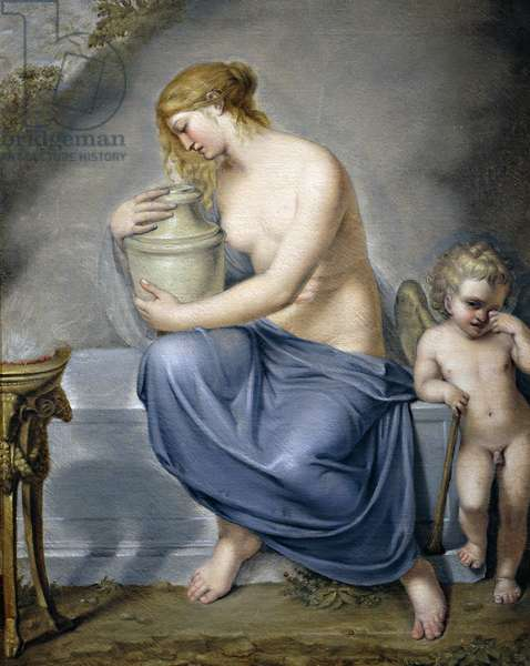 Venus and Hymen weeping, circa 1790, attributed to Andrea Appiani (1754-1817), oil on canvas, 73x58 cm