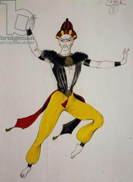 Costume sketch for Tartar dancer in Luisa Miller, opera by Giuseppe Verdi (1813-1901)