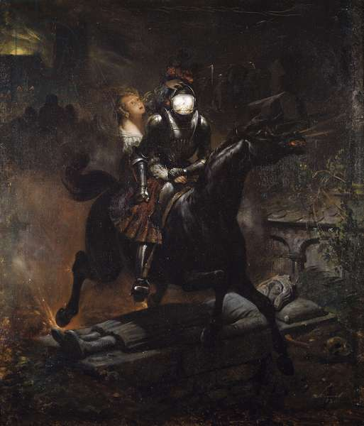 The ballad of Leonora (or Lenore) by Horace Vernet (1789-1863), 1839