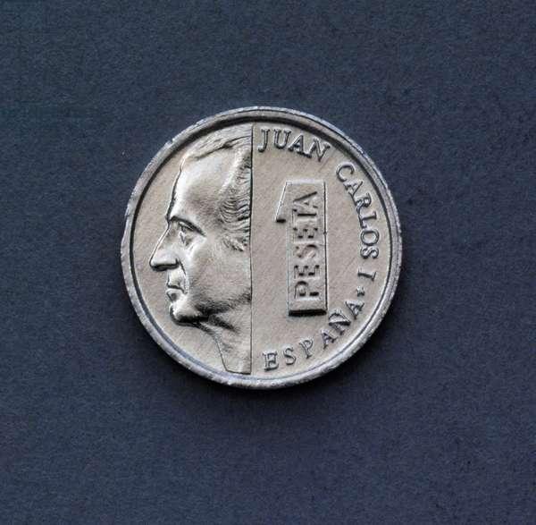 1 peseta coin, 1993, obverse, Juan Carlos I (1938-), Spain, 20th century