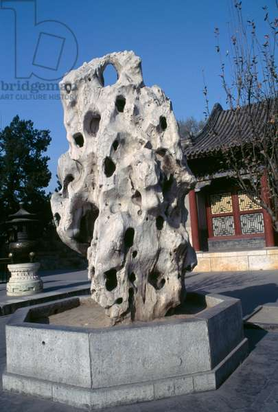 Taihu rock, Summer palace (Unesco World Heritage List, 1998), Beijing, China (photo)
