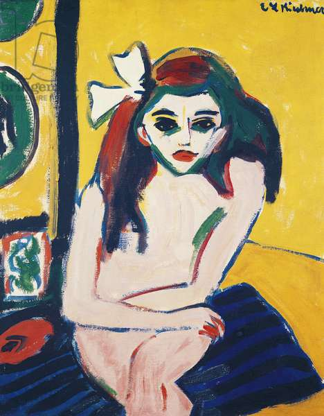 Marcella, by Ernst Ludwig Kirchner (1880-1938), 1909-1910