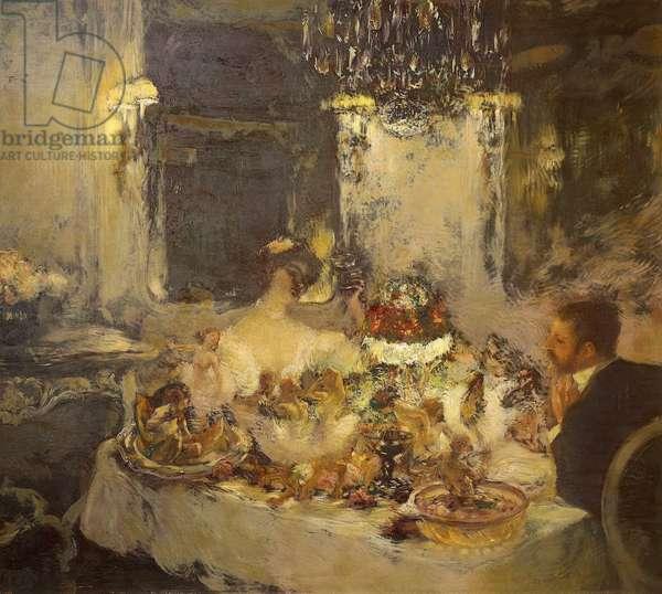 Champagne, by Gaston La Touche (1851-1913), oil on canvas