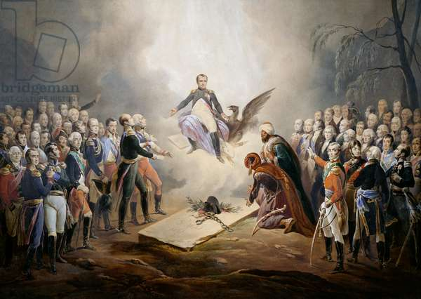 Apotheosis of Napoleon Bonaparte, watercolour lithograph by Jean-Baptiste Isabey from painting by Horace Vernet, 19th century