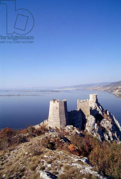 Golubac Fortress on Danube, Serbia, 14th century
